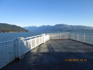A. Leaving Nanaimo